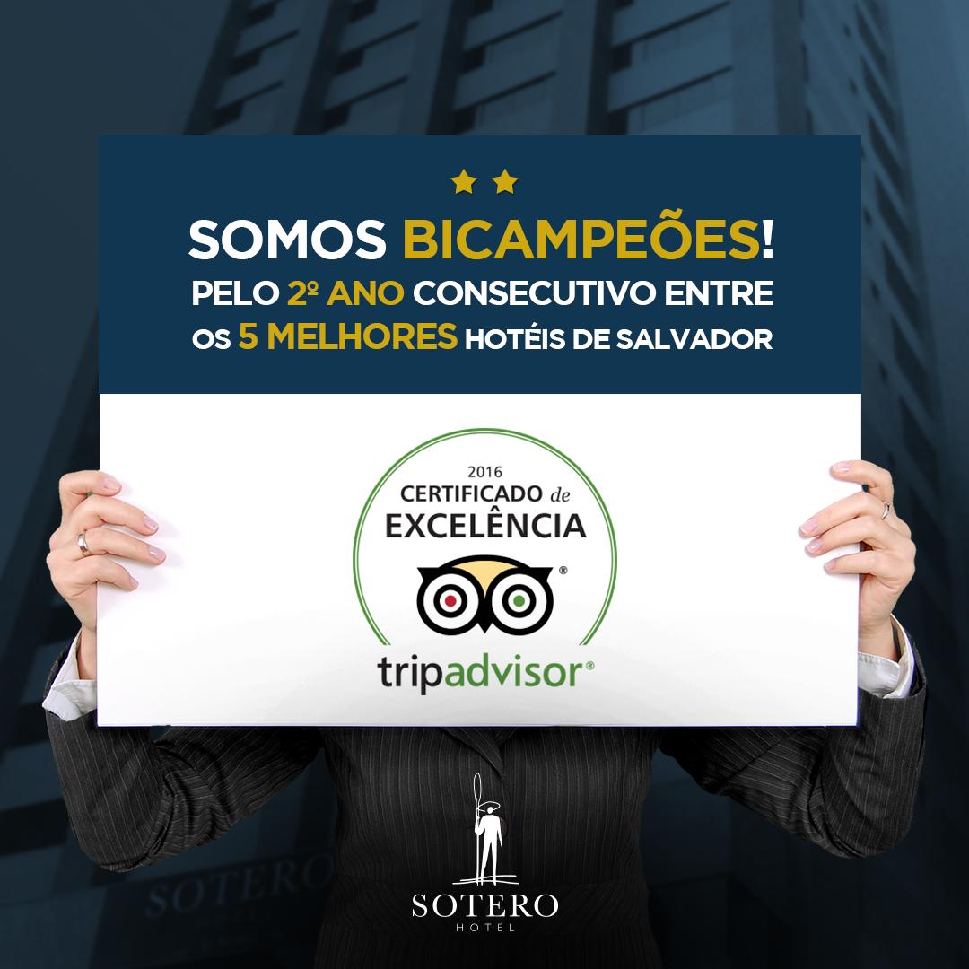 CERTIFICADO DE EXCELÊNCIA TRIP ADVISOR DE 2016